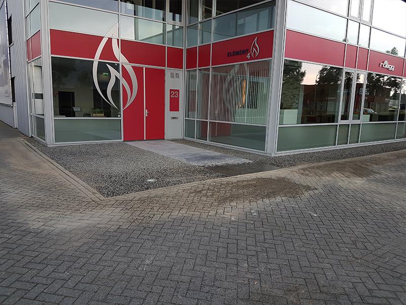 Bedrijfsingang te Zwolle